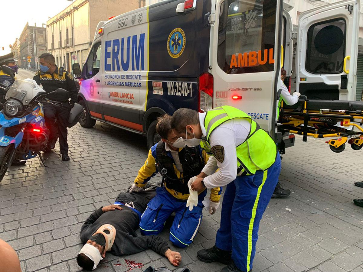 Atropella Metrobús a persona en la colonia Centro