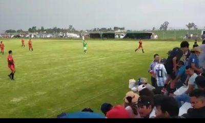 Balacera en partido de futbol. Foto: Twitter