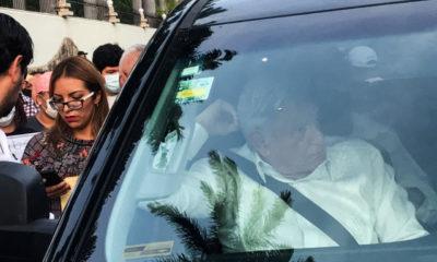 """""""Estoy en huelga"""", responde AMLO tras ser retenido por la CNTE"""
