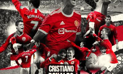 Cristiano Ronaldo con el Manchester United. Foto: Twitter