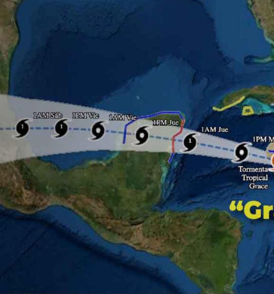 Grace se intensificó a huracán categoría 1; Quintana Roo está alerta