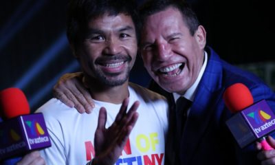 Julio César Chávez con Manny Pacquiao. Foto: Twitter