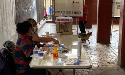 Baja participación y lluvia durante consulta en alcaldía Cuauhtémoc
