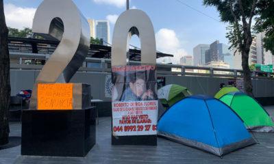 Instala plantón en la FGR; madre busca a su hijo desaparecido