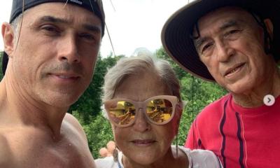 Sergio Mayer y sus papás
