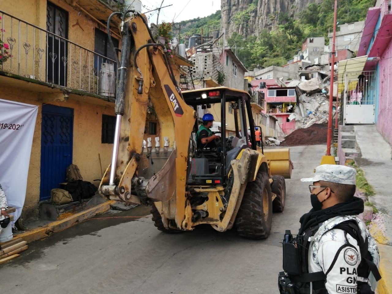 Derrumbe del Cerro del Chiquihuite. Foto: Especial