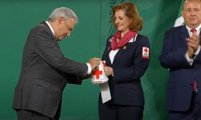 Hoy inició colecta, ¿Cuánto donó AMLO a la Cruz Roja?