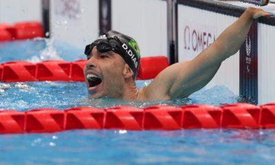 Daniel Dias el hombre piscina. Foto: Twitter