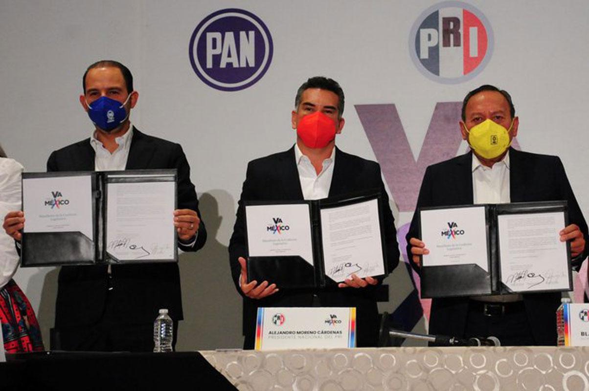 Va por México perfila alianzas para seis gubernaturas en 2022