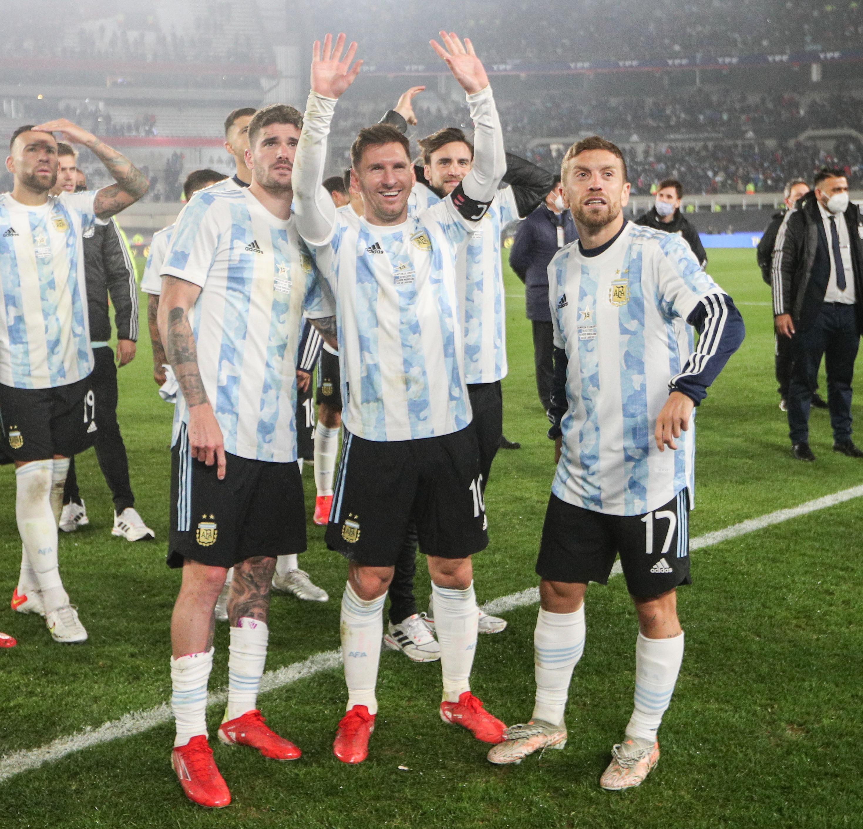 Messi con la selección de Argentina. Foto: Twitter