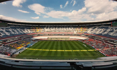 Palco del Estadio Azteca. Foto: Twitter