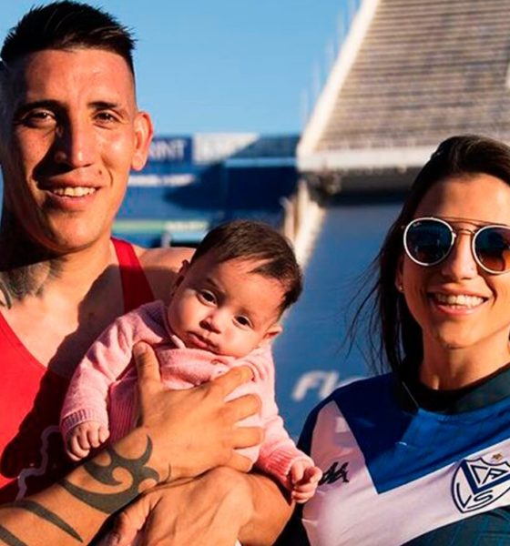 Ricardo Centurión con su hija. Foto: Twitter