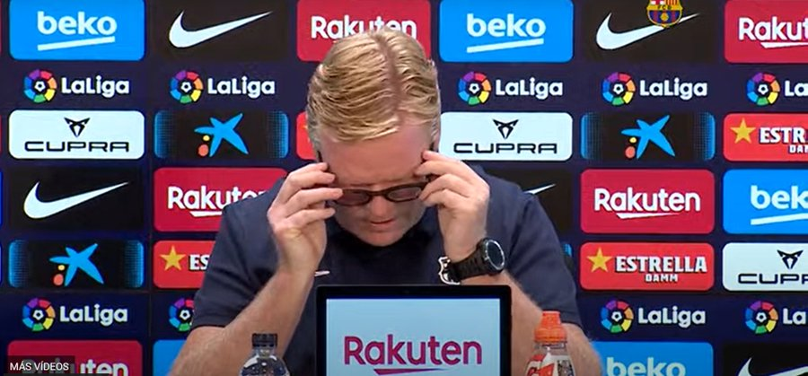 Ronald Koeman, técnico del Barcelona. Foto: Twitter
