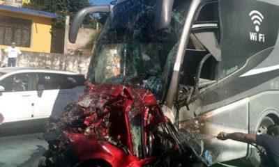 Autobús se queda sin frenos en Veracruz; tres muertos y más de 15 heridos