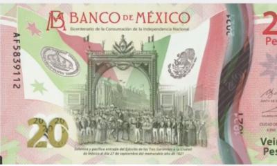 """Con billete de 20 pesos """"festejan"""" Consumación de la Indepencia"""