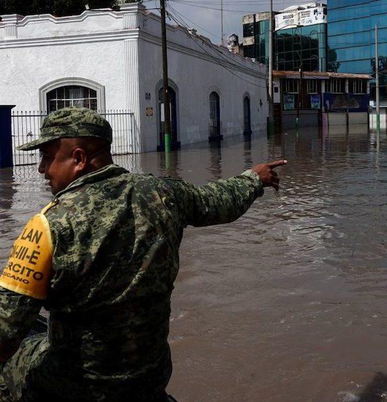 Se desborda río en Tula, HIdalgo. Foto: Cuartoscuro