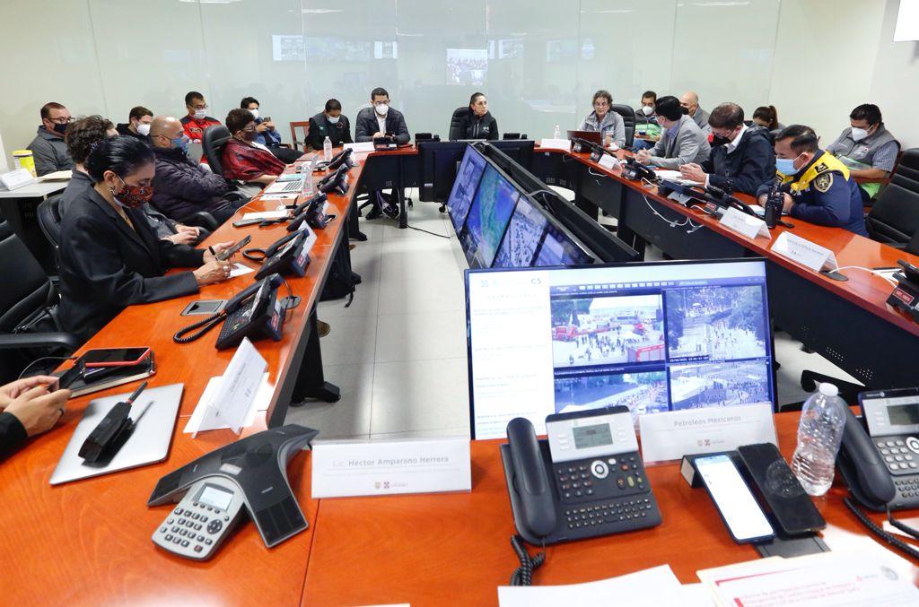 Simulacro en la Ciudad de México. Foto: Especial