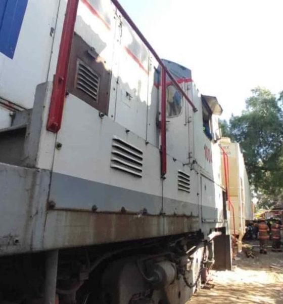 Se descarrila tren en Ecatepec; sólo el susto, ni muertos ni heridos