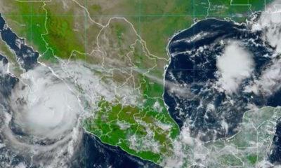 "Huracán ""Olaf"" toca tierra en Baja California Sur; se degrada a categoría 1"