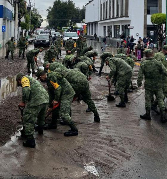 Amanece Ecatepec entre lodo y escombros por intensas lluvias
