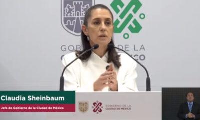 """Sheinbaum Pardo dijo que van a la baja el número de contagios y hospitalizaciones en la capital del país y pidió """"no bajar la guardia""""."""