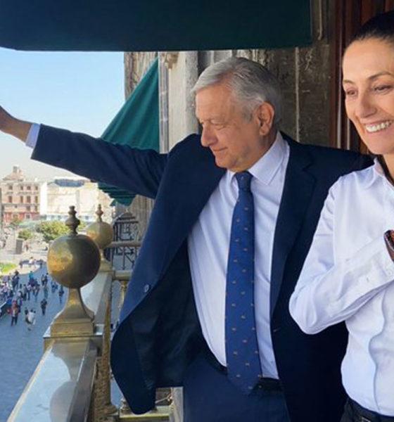 """AMLO califica gestión de Claudia Sheinbaum como """"muy buena"""""""