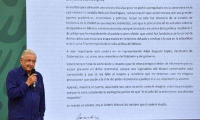 """AMLO no asistirá a entrega de la medalla """"Belisario Domínguez"""""""