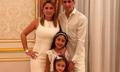 Ángel Di María con su familia. Foto: Twitter