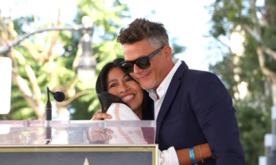 Alejandro Sanz y Yalitza Aparicio