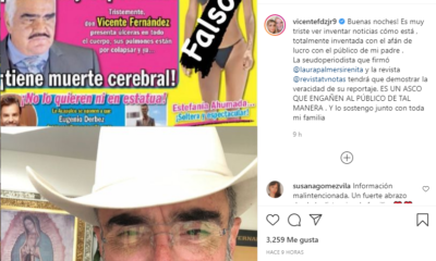 Vicente Fernández desmentido