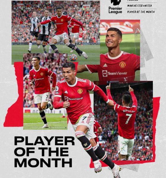Cristiano Ronaldo el jugador del mes. Foto: Twitter