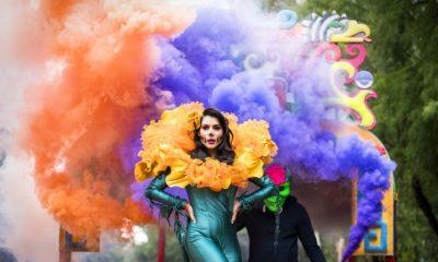 María León en el Desfile de Día de Muertos