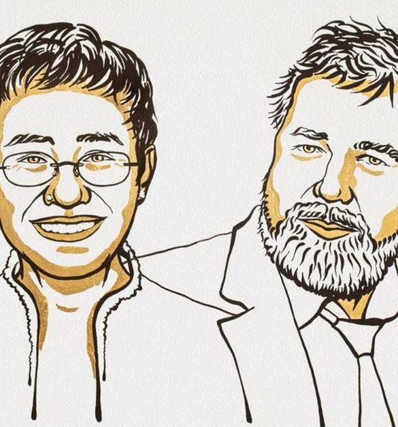 Otorgan Nobel de la Paz 2021 periodistas filipino y ruso