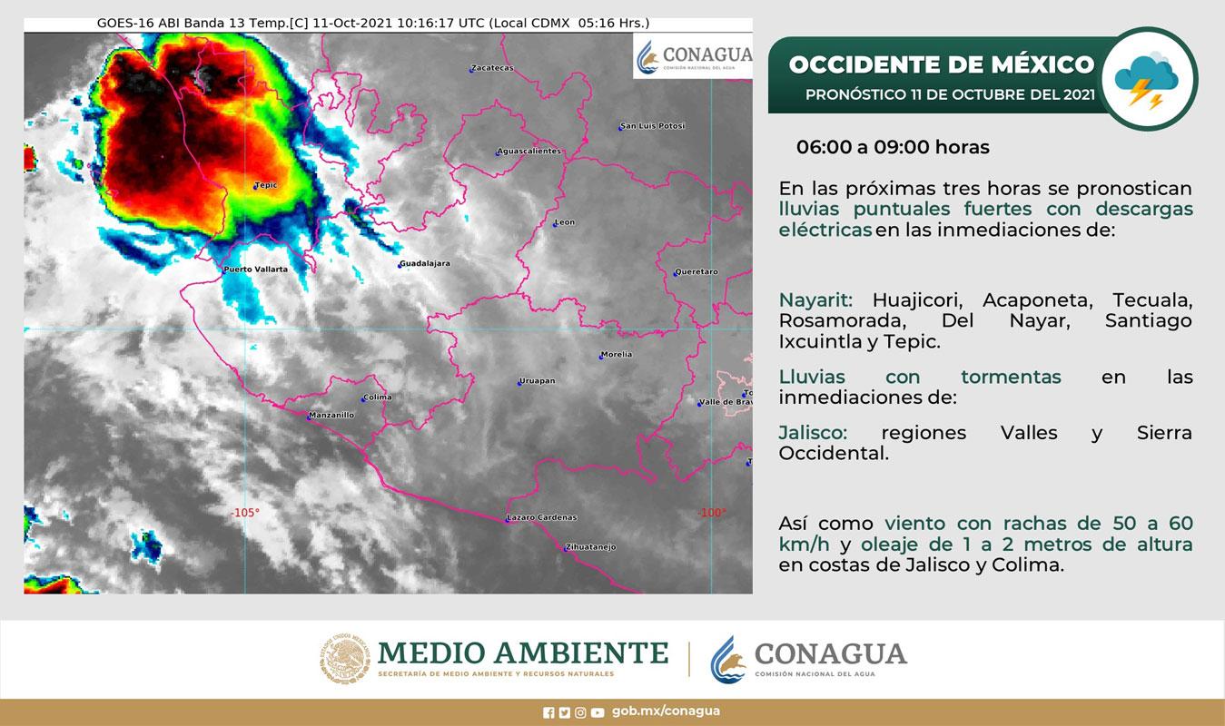 "Surge tormenta tropical ""Pamela""; tocará Sinaloa como huracán"