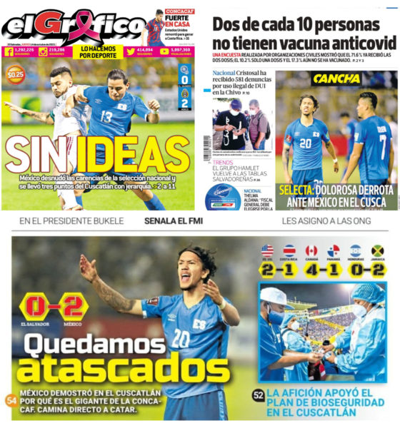 Prensa de El Salvador. Foto: Especial