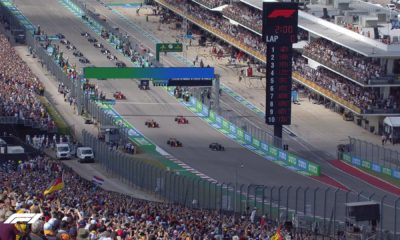 Gran Premio de México pintado de verde. Foto: Twitter