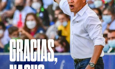 Ignacio Ambriz fuera del Huesca. Foto Twitter