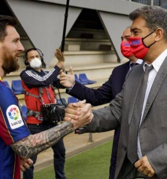 Laporta quería que Messi se quedara. Foto: @LionelMesias_