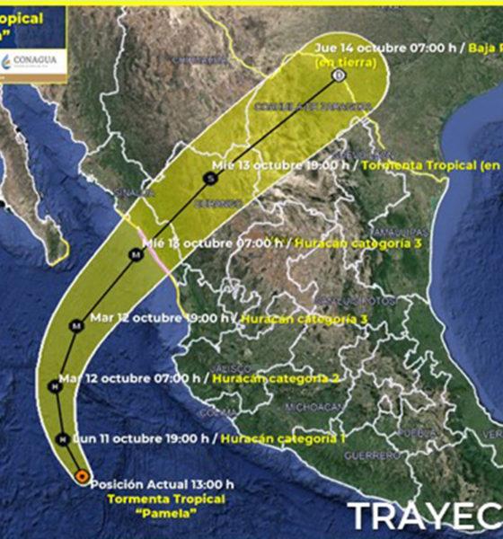Pamela podría convertirse en huracán categoría 1