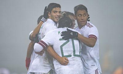 Raúl Jiménez con la selección mexicana. Foto: Twitter