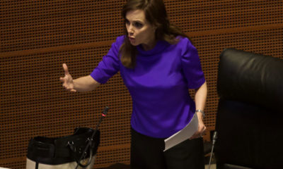 Niega senadora Lilly Téllez intención de faltarle respeto a AMLO